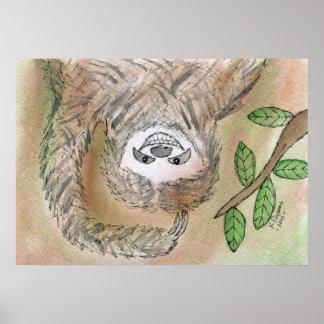 Sloth Adorableness Poster