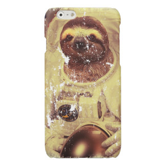 Sloth Astronaut Distressed iPhone 6 Plus Case