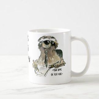 Sloth at Office Cartoon Coffee Mug