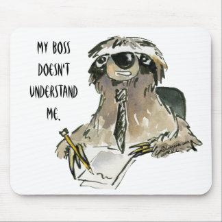 Sloth at Work Cartoon Mousepad