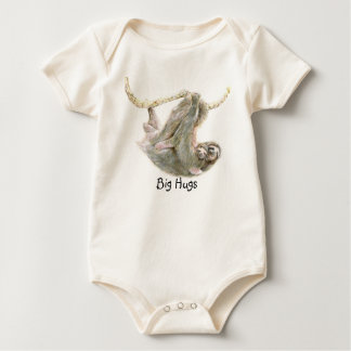 "Sloth, baby with mum ""Big Hugs"" Baby Bodysuit"
