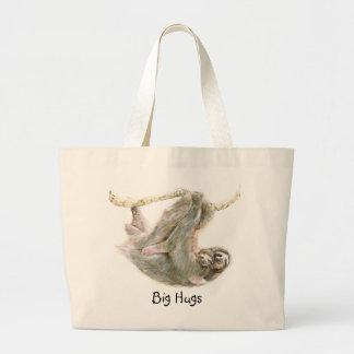 "Sloth, baby with mum ""Big Hugs"" Jumbo Tote Bag"