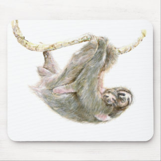 "Sloth, baby with mum ""Big Hugs"" Mouse Mat"
