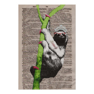 Sloth Beauty Queen Poster