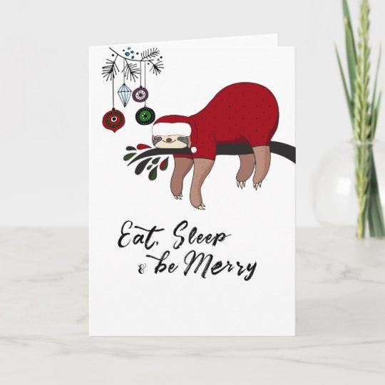 Christmas Sloth.Zazzle Invitations