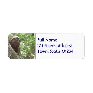 Sloth Climbing Return Address Label