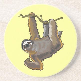 sloth drink coasters