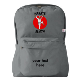 Sloth Doing Karate Humorous Martial Arts Backpack