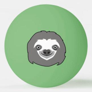 Sloth Face Ping Pong Ball
