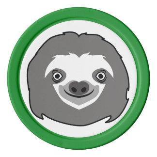 Sloth Face Poker Chips