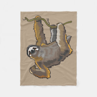 sloth fleece blanket