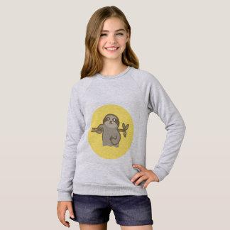 Sloth Girls' American Apparel Raglan Sweatshirt