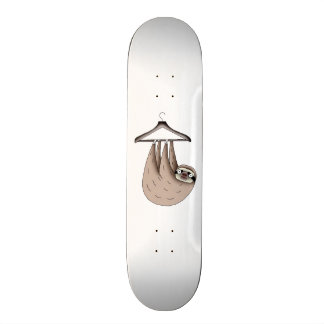 sloth hanging on hanger skateboards