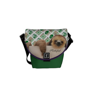 Sloth hanging out bag... commuter bags