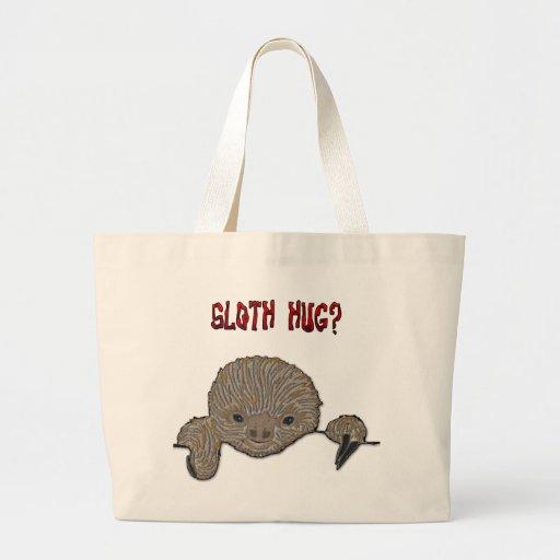 Sloth Hug Baby Sloth Canvas Bag