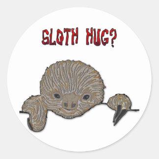 Sloth Hug Baby Sloth Classic Round Sticker