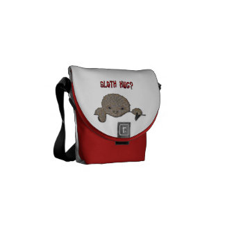 Sloth Hug Baby Sloth Sketch Commuter Bags