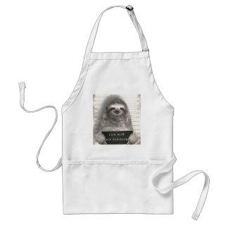 Sloth in a Mugshot Standard Apron