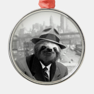 Sloth in New York Christmas Ornament
