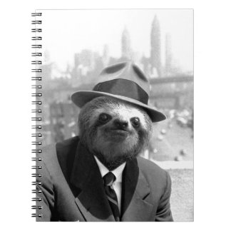 Sloth in New York Spiral Notebook