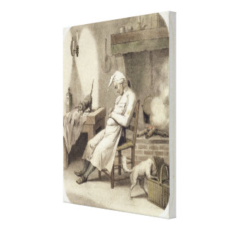 Sloth in the Kitchen, from a series of prints depi