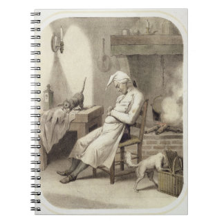 Sloth in the Kitchen, from a series of prints depi Notebook