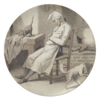 Sloth in the Kitchen, from a series of prints depi Plate