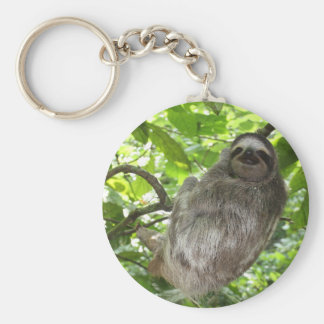 Sloth in Tree Keychain