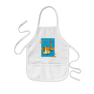 Sloth -Just Say NO Kids Apron