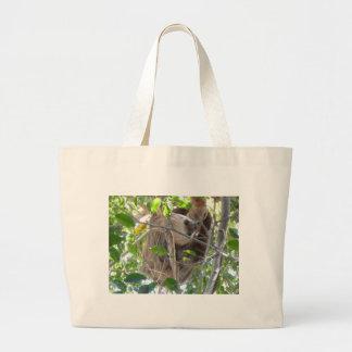 sloth large tote bag