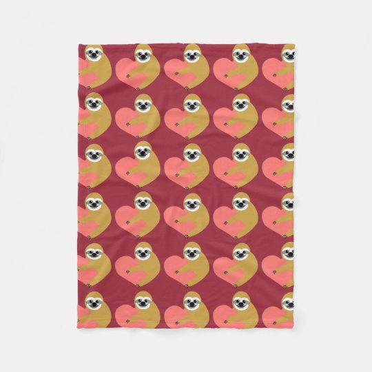 Sloth Love Fleece Blanket