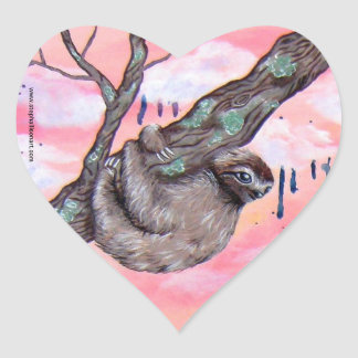 Sloth Love Heart Sticker