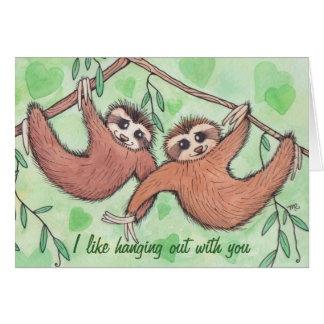 Sloth Love Valentine Greeting Card