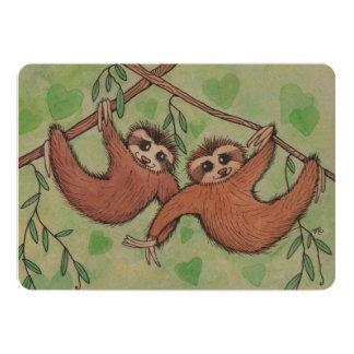 Sloth Love Valentine Flat Card