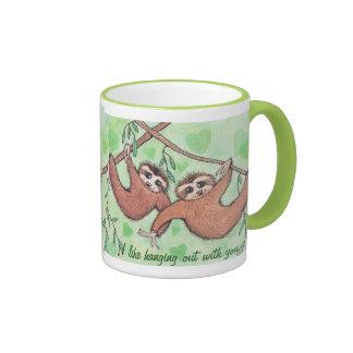 Sloth Love Valentine Ringer Mug