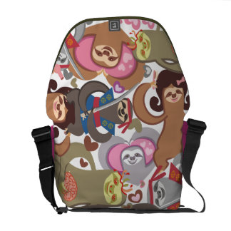 Sloth love zombie samurai hairdresser shoulder bag messenger bags