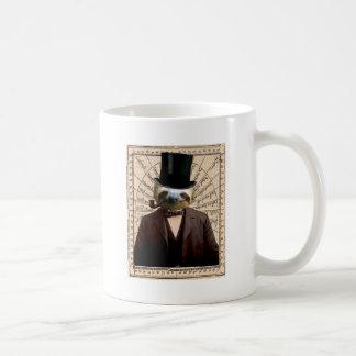 Sloth Man Victorian Steampunk Anthropomorphic Basic White Mug