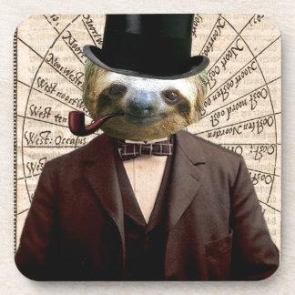 Sloth Man Victorian Steampunk Anthropomorphic Coaster