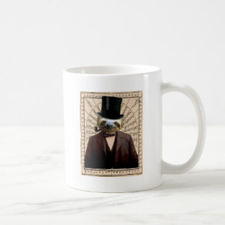 Sloth Man Victorian Steampunk Anthropomorphic Coffee Mug
