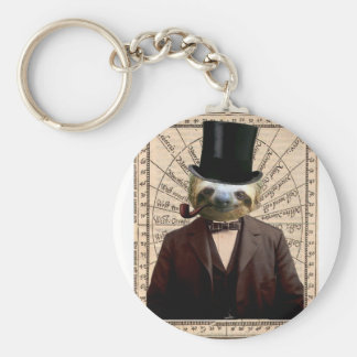 Sloth Man Victorian Steampunk Anthropomorphic Key Ring