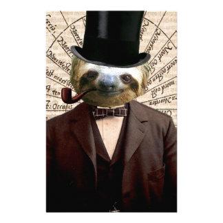 Sloth Man Victorian Steampunk Anthropomorphic Stationery
