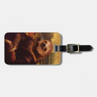 Sloth Mona Lisa Luggage Tag