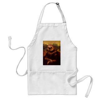 Sloth Mona Lisa Standard Apron