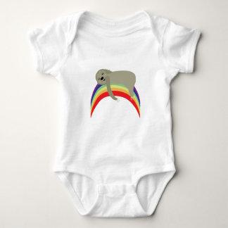 Sloth On Rainbow Baby Bodysuit