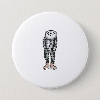 Sloth on Roller Skates 7.5 Cm Round Badge
