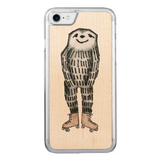 Sloth on Roller Skates Carved iPhone 8/7 Case