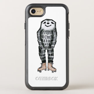 Sloth on Roller Skates OtterBox Symmetry iPhone 8/7 Case