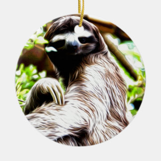 Sloth Painting Christmas Ornament