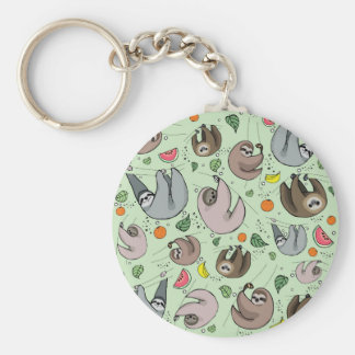 Sloth Party Key Ring