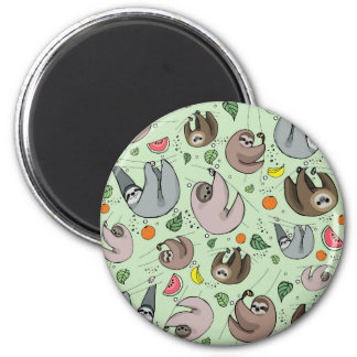 Sloth Party Magnet